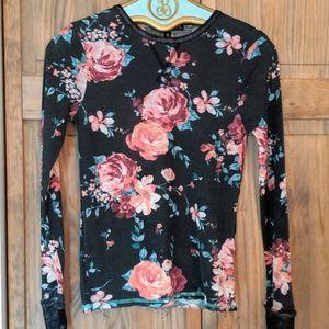 Floral Knitwear Long Sleeve